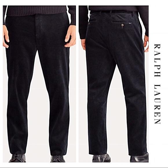 90857eb7 Men's Black POLO Classic Corduroy Pants Size 30x32 NWT